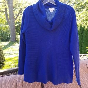 Style & CO royal blue cowl neck tunic Small